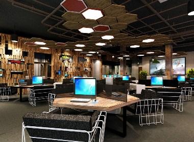 网咖网吧设计案例效果图