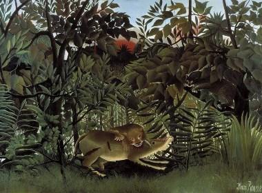 亨利·卢梭笔下的野生动物园