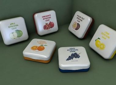 水果味爽喉糖包装设计