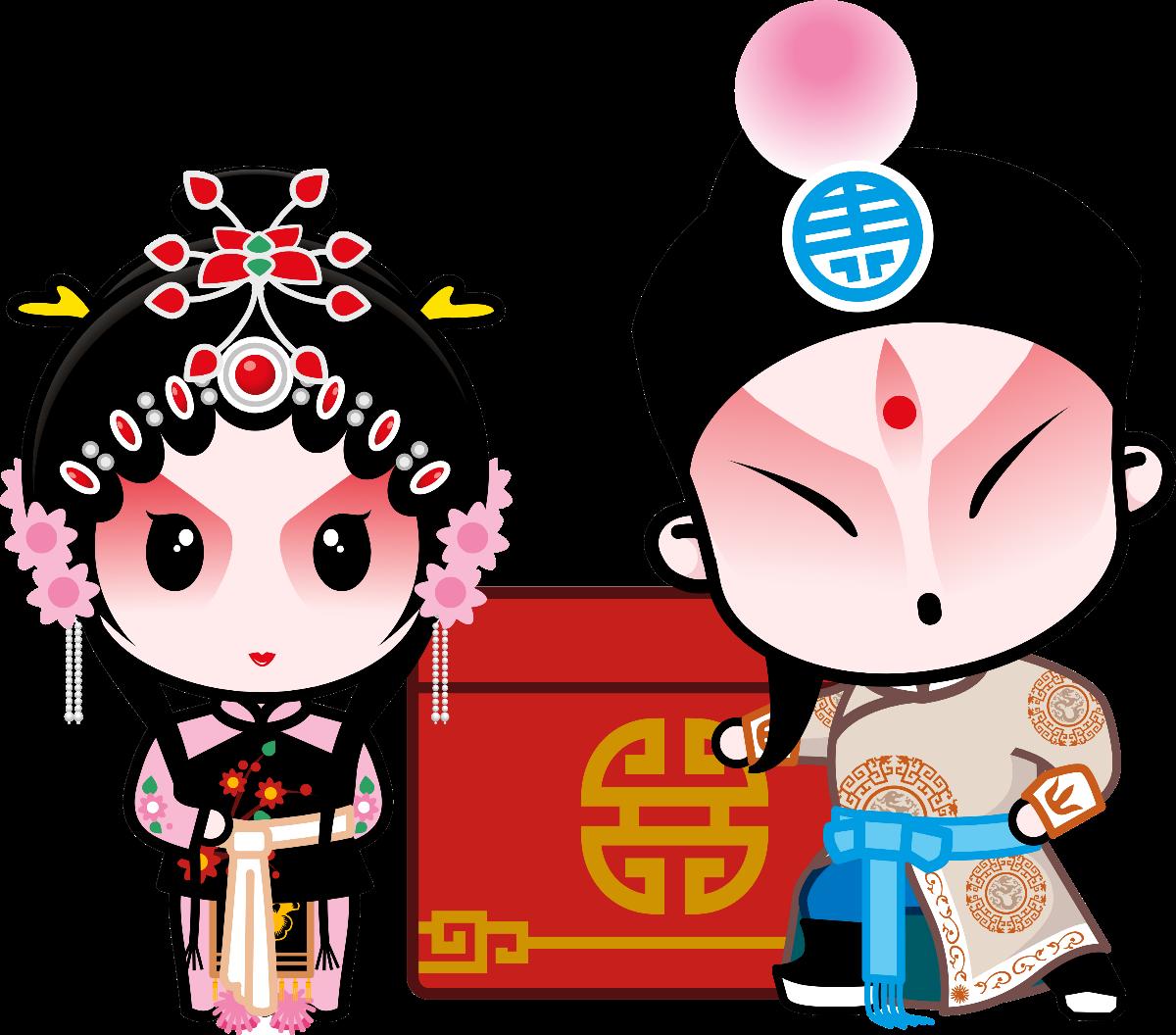 国粹京剧,国粹宝贝,Q版京剧,动漫,卡通,高清大图