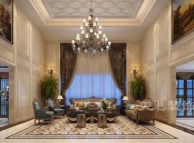 永威翡翠城装修效果图700平新古典风格设计案例