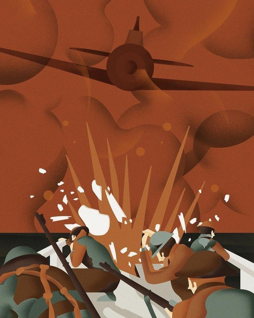 第90届奥斯卡最佳影片提名电影的风格化海报
