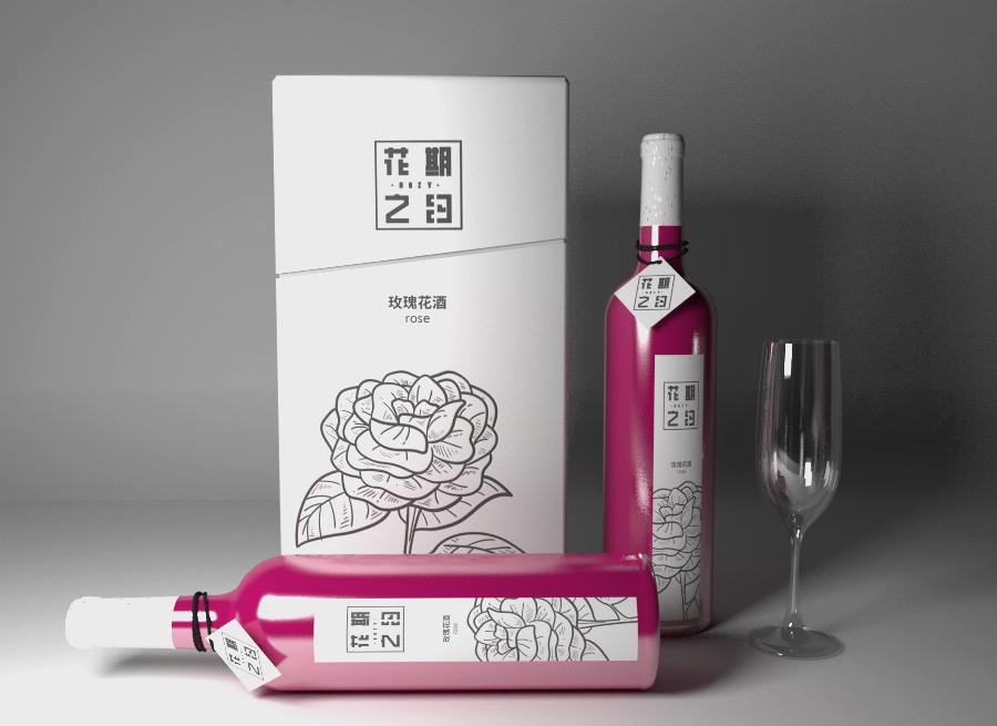 玫瑰酒品牌包装设计