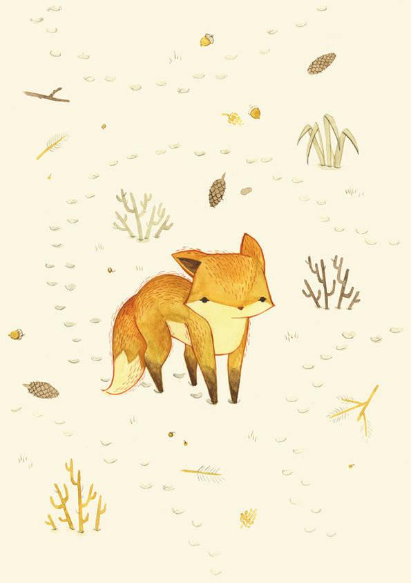 小狐狸插画欣赏