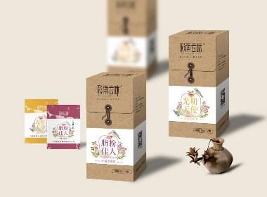 流笔品牌设计花草茶包装设计/产品包装/牛皮纸包装设计