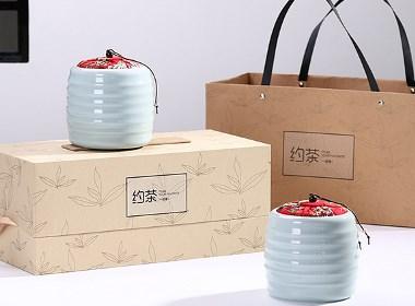 闲时来约茶-茶叶包装设计高档礼盒设计