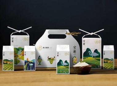 袁夫稻田——大米包装设计