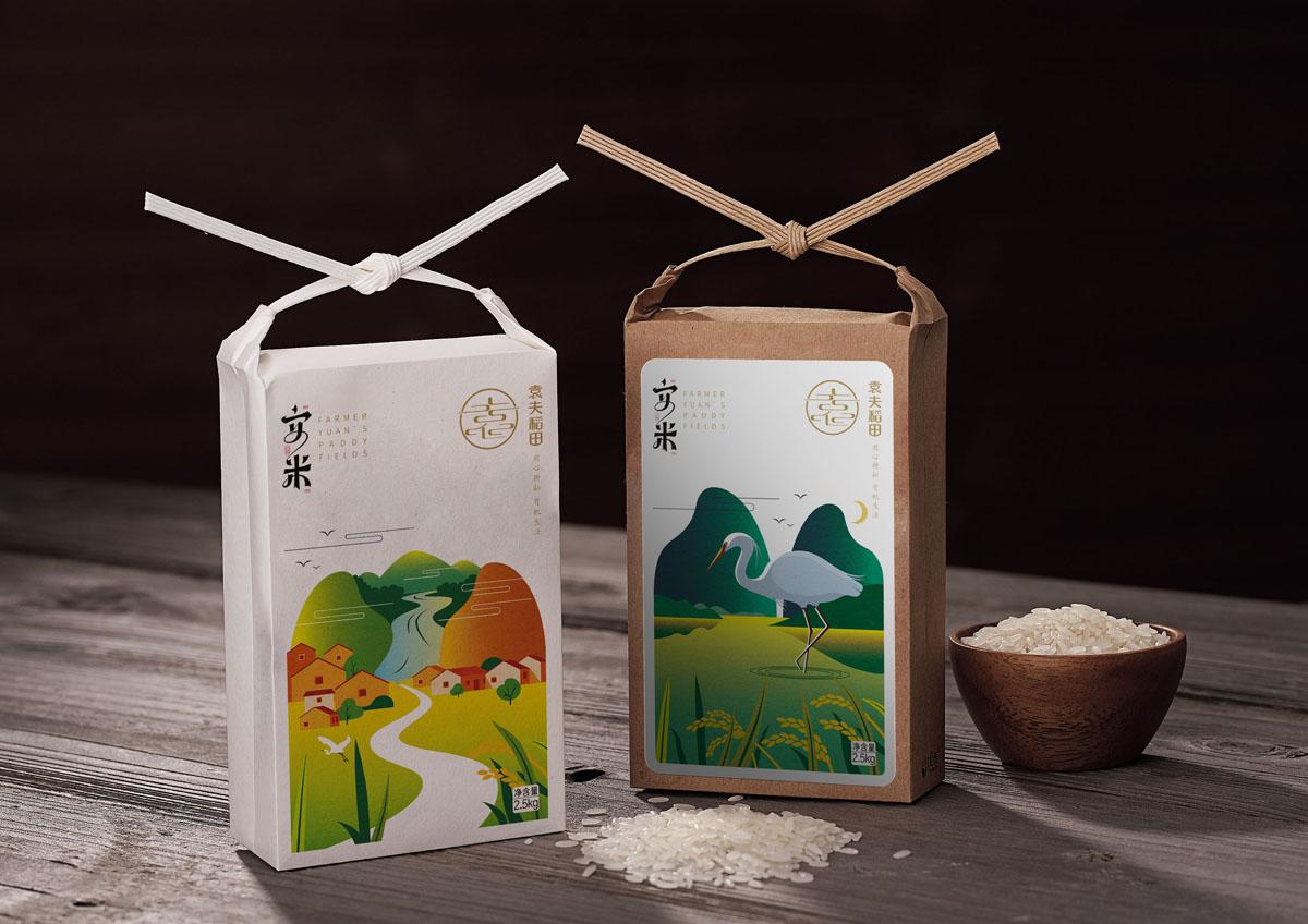 袁夫稻田——大米包裝設計