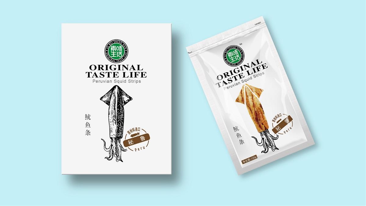 素味生活 系列海产品包装设计