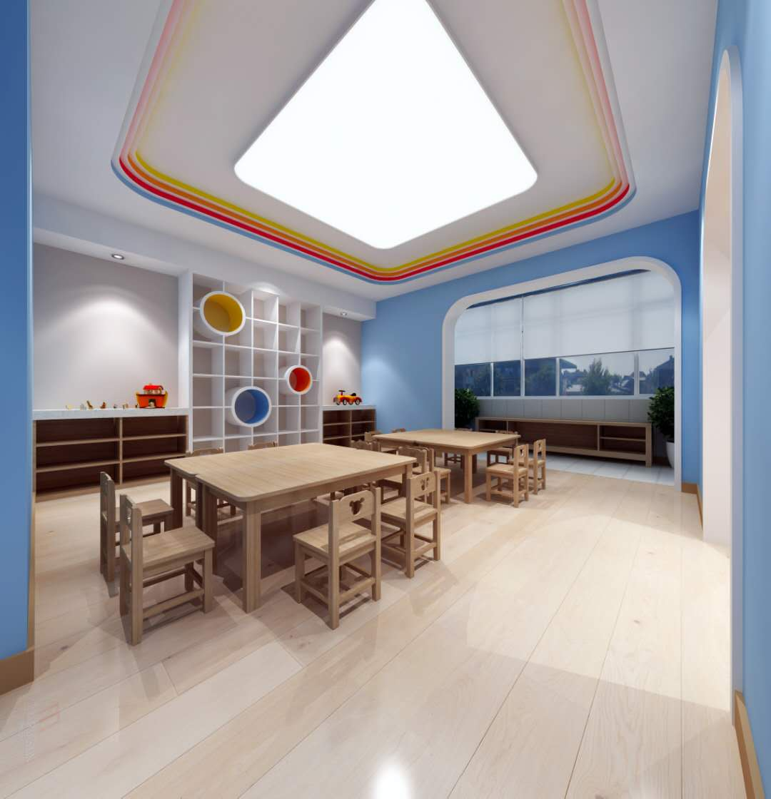 河津山西贝乐多幼儿园装修设计效果图女款高跟鞋海报设计图片