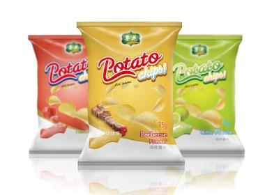 原创作品:薯花 薯片包装视觉设计