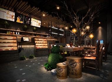 延边黑咖骑士咖啡店设计-延边咖啡厅设计|雅安咖啡厅设计公司|成都咖啡吧设计公司|成都专业咖啡厅装修公司