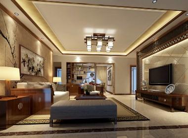 新中式别墅装饰风格案例效果图