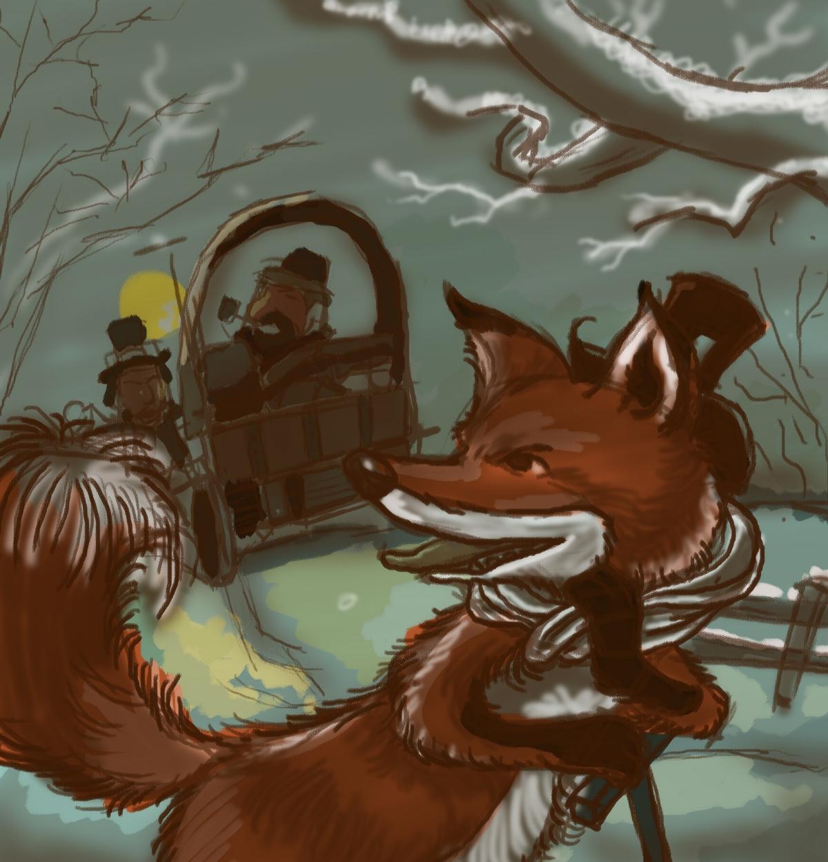 练习(冬天的狐狸)