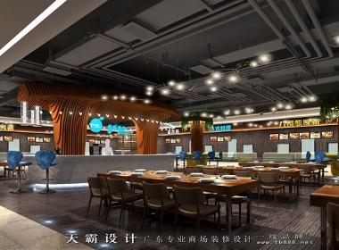专业美食广场设计公司天霸设计打造独特美食广场设计效果