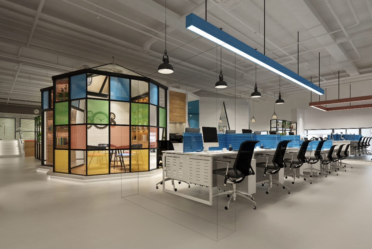 深圳創展大廈辦公室裝修設計效果圖案例