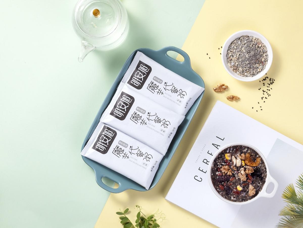 明安旭代餐粥 系列包裝設計