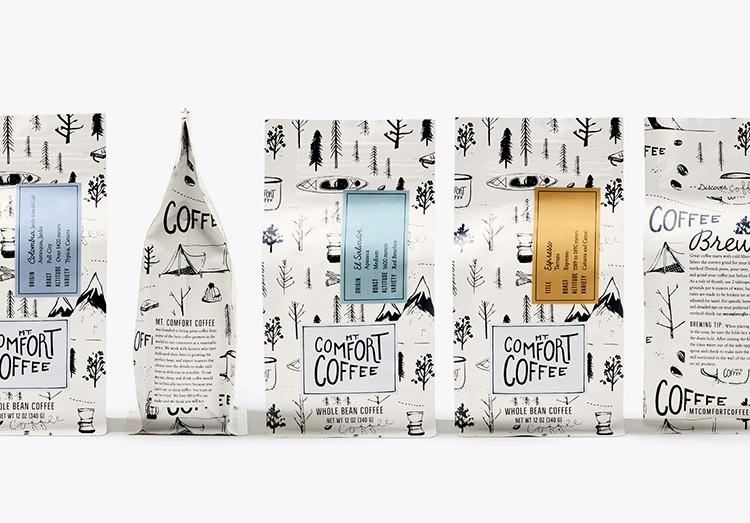 舒适山咖啡品牌形象包装设计
