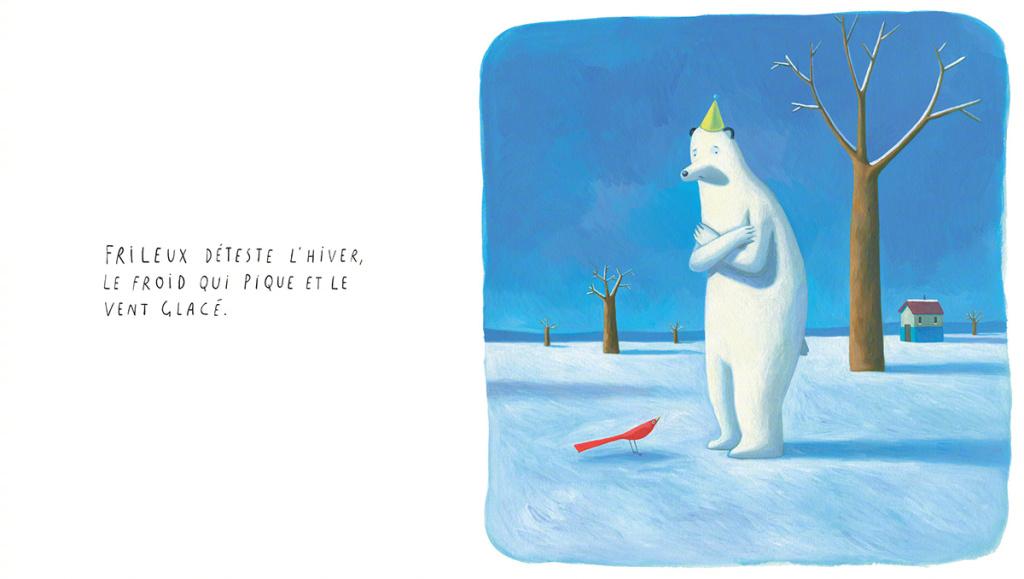 北極熊的狂想插畫欣賞