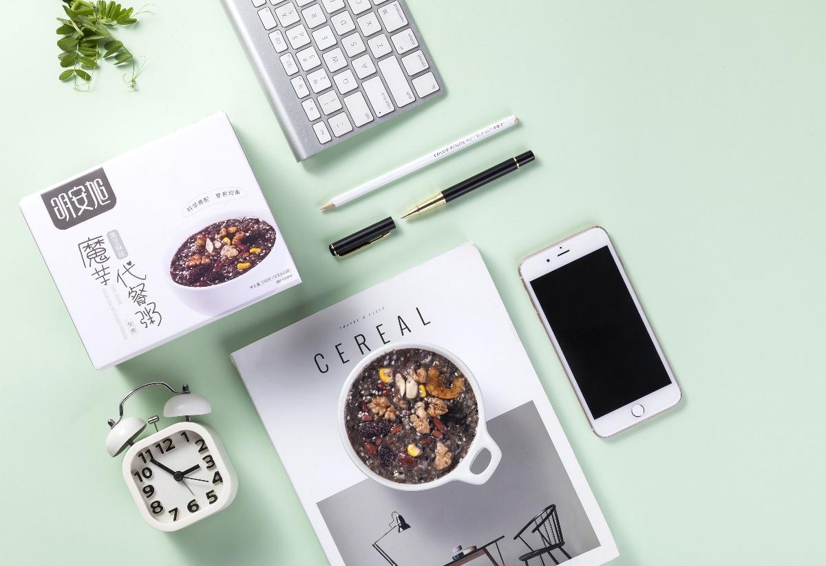 明安旭代餐粥 系列包装设计
