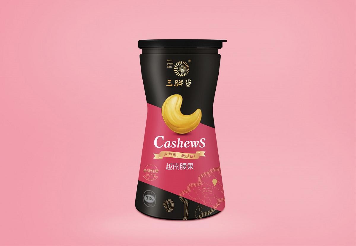 三胖蛋开始高端坚果市场,李华清设计持续为其助力!