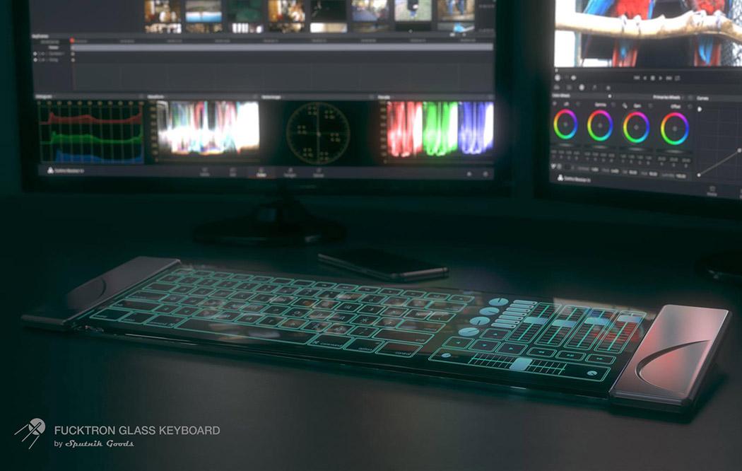 可拉伸的百變玻璃鍵盤