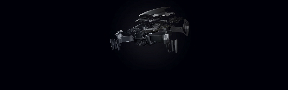 折疊的無人機