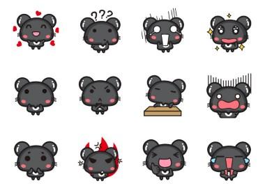 哈咪猫朋友老鼠咪蒂表情