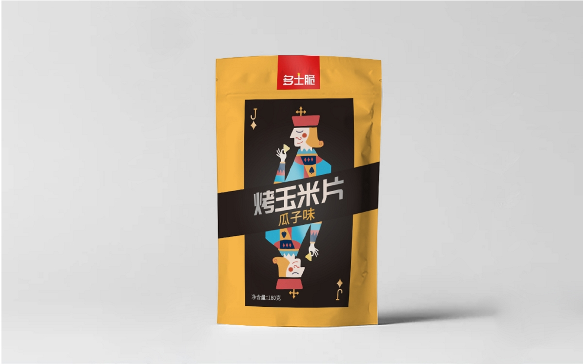 多士脆 烤玉米片包裝設計