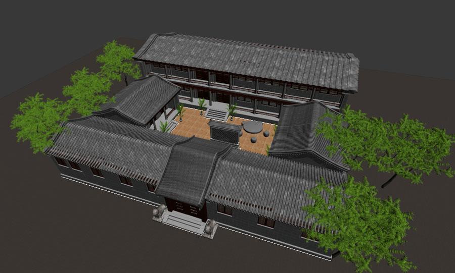 古建四合院设计案例效果图