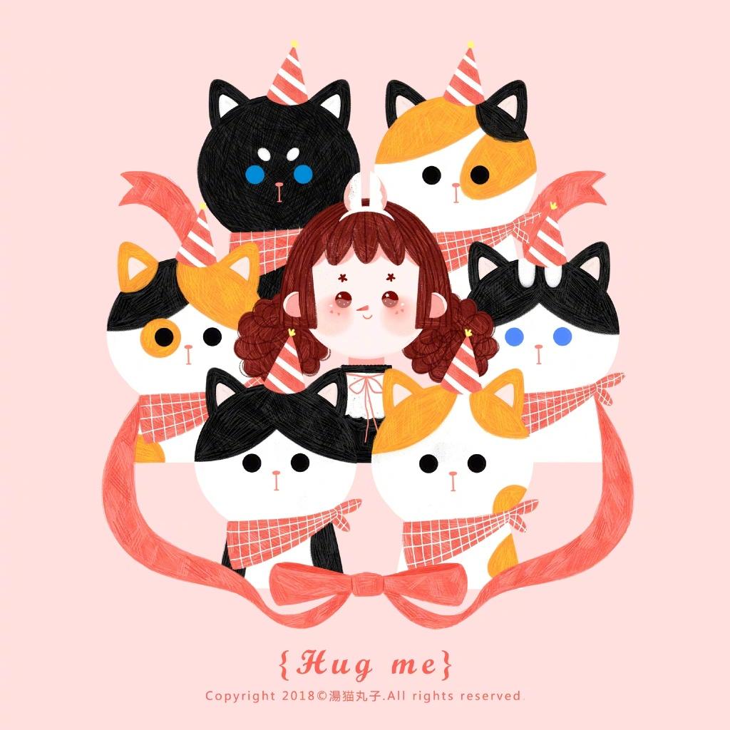 《Hug Me》插画欣赏
