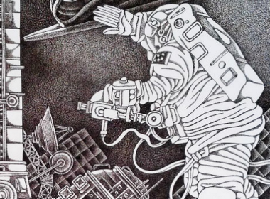 钢笔画[国际空间站]
