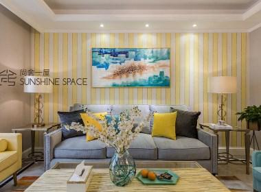 深与浅、鲜明与细腻,遵循的色彩搭配的新家