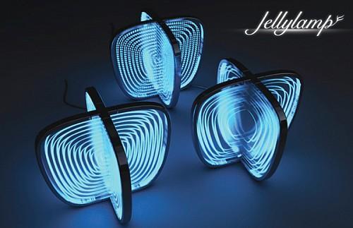 荧光水母台灯