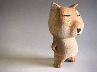 藏狐狸木雕