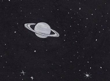 黑色的星空梦想的基地插画