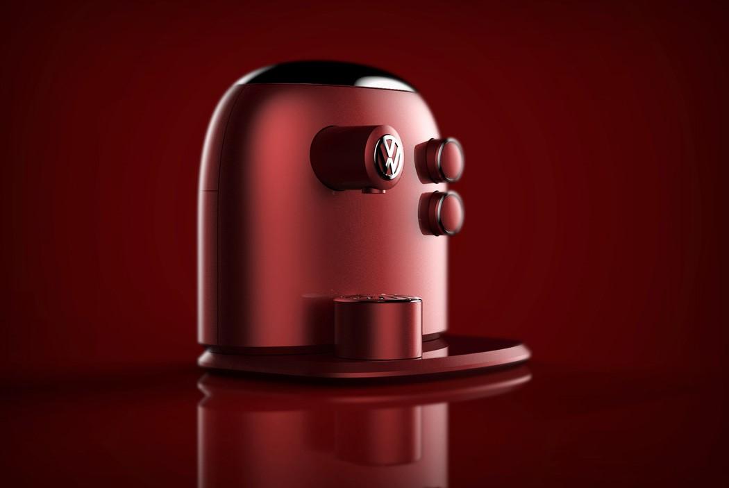 设计灵感来自甲虫的咖啡机设计