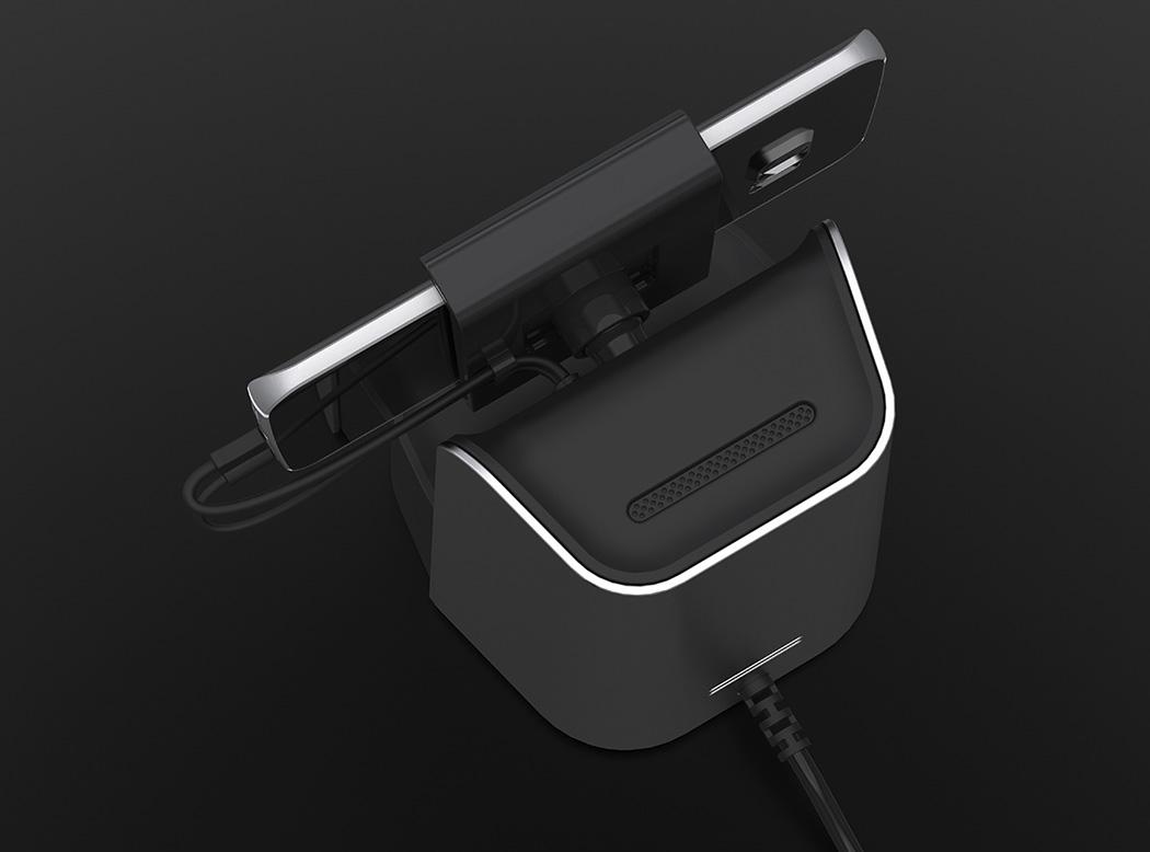 音响、充电器、手机支架三合一设计