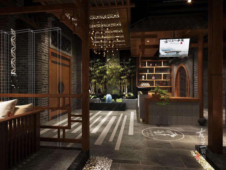 现代中式只餐厅设计|成都古兰装饰设计|新疆伊宁印象川渝中餐厅设计