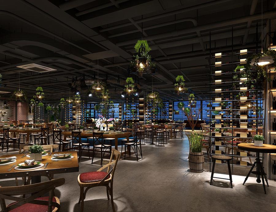 昆明特色餐吧設計案例|昆明餐吧裝修設計公司|胡桃里風餐吧設計