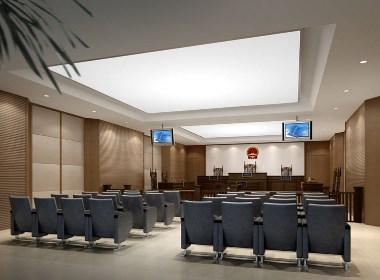 法院 法庭设计案例效果图