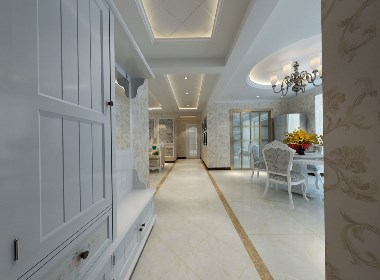 晒承翰世家 160㎡美式风,设计如此大气,一进门简直惊艳一个家!