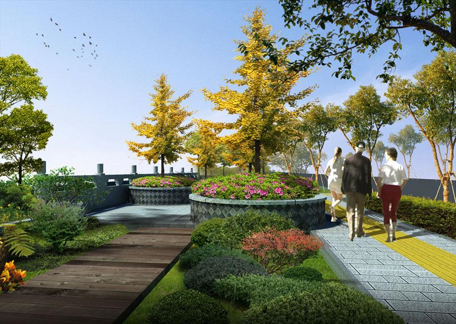 公园园林景观设计案例效果图