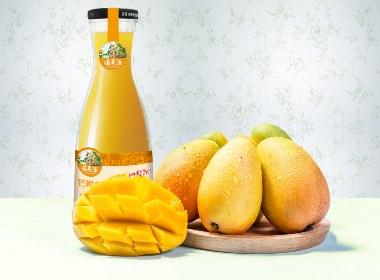 【百納食品包裝設計案例】摘果源果汁飲料品牌整合案例