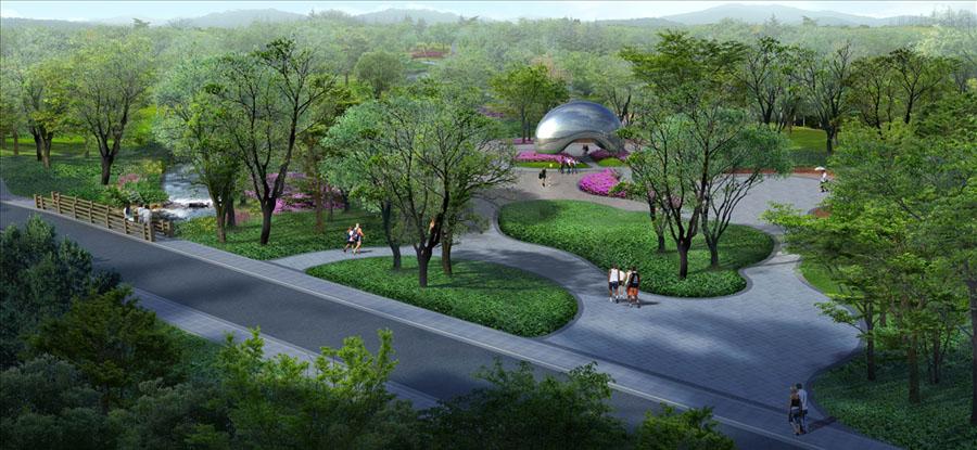 清晨公園 濕地公園 景觀園林 公園小路 生態公園 生態濕地 生態公園圖片