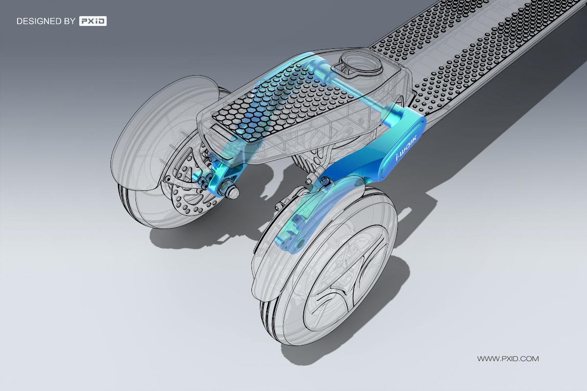 品向工业设计 电动三轮滑板车设计