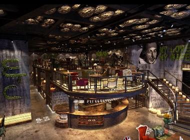 成都咖啡厅装修设计案例赏析:成都ETC咖啡厅|古兰作品