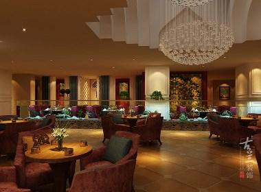 成都咖啡厅 西餐厅装修设计案例赏析:成都豪亭咖啡厅|古兰作品
