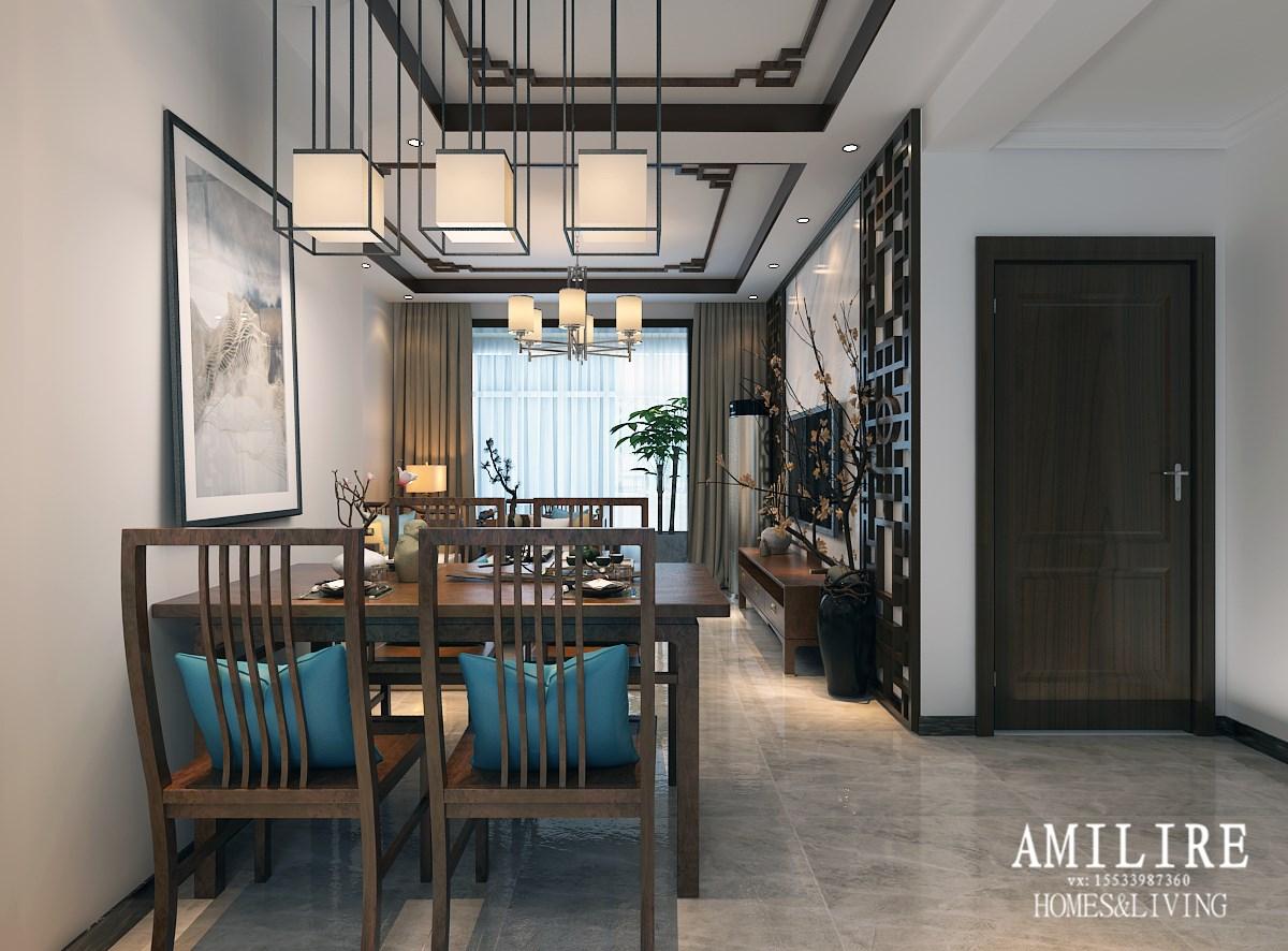 亚美利加国际建材馆安苑100㎡中式风,看设计师如何诠释中国风,气质惊艳脱俗!