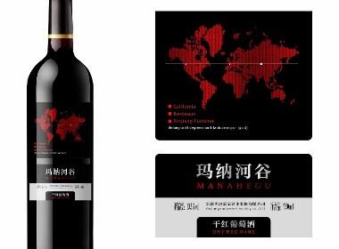 红酒瓶标设计